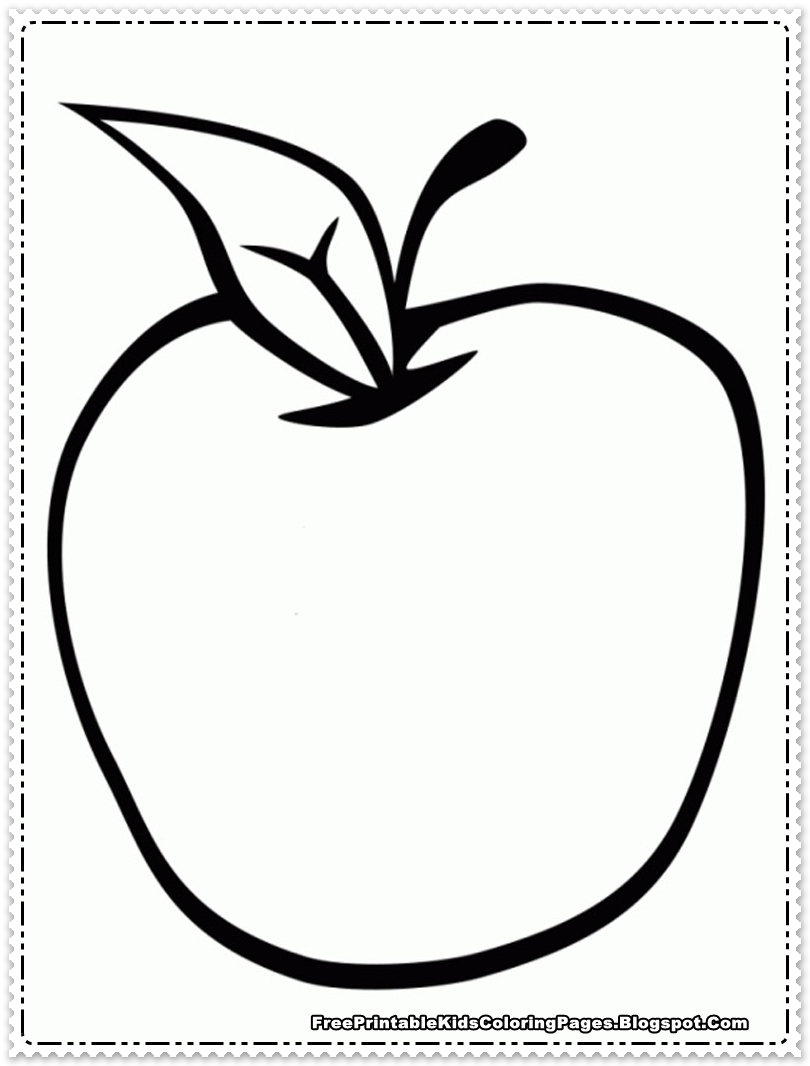 apple fruit coloring pages printable free printable kids
