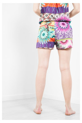 Botanical Stripes Desigual. Short de pijama
