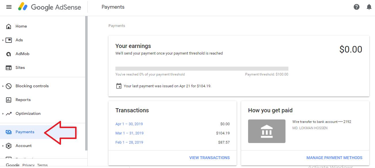 Having Problem To Change Google Adsense Address & Account Name