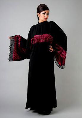 Red lace abaya for modern girls 2017