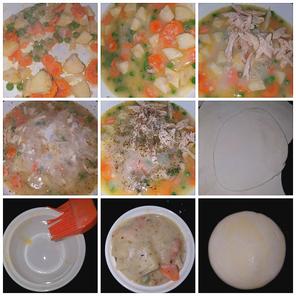 Step by Step Pictures of how to make Chicken Pot Pie