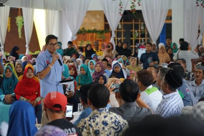 Ini yang Dirasakan Sandiaga Uno Selama di Jember Jawa Timur