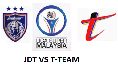 Keputusan JDT Vs T-Team 25 Februari 2017