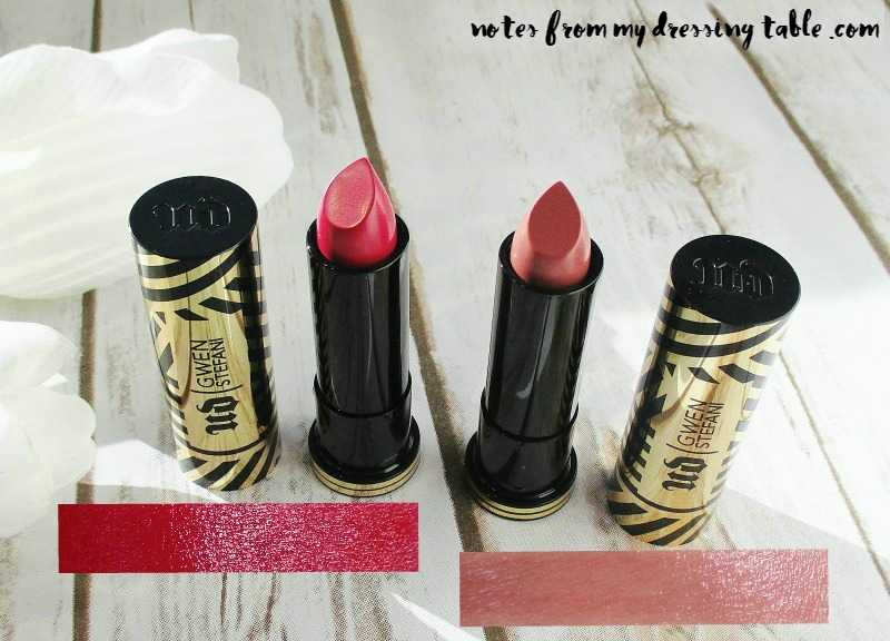 Urban Decay X Gwen Stefani Collection Lipsticks-Swatches-notesfrommydressingtable.com