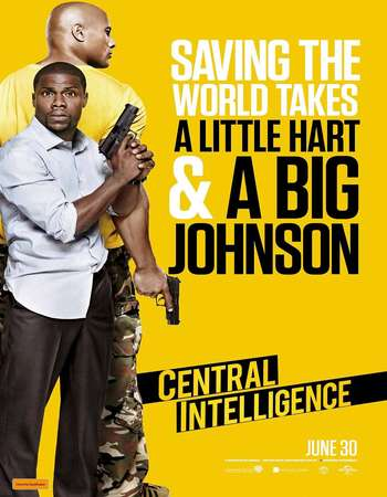 Poster Of Central Intelligence 2016 Dual Audio 720p BRRip [Hindi - English] ESubs - UNRATED Free Download Watch Online downloadhub.net