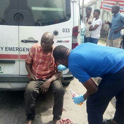 rrs officers injured car accident new africa shrine