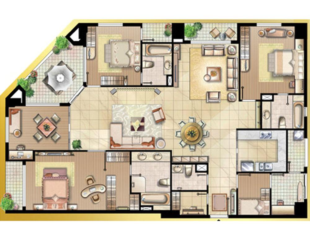 căn hộ the flemington 220m2