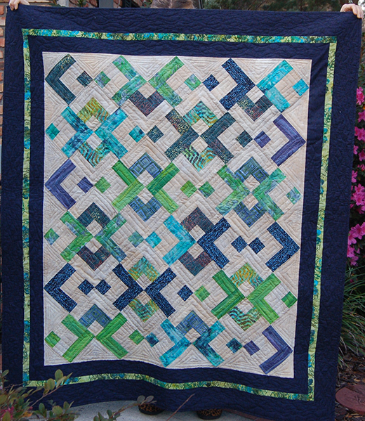 Yin Yang on the Gulf Quilt Free Tutorial designed by Cozy Quilt Designs for Jordan Fabrics