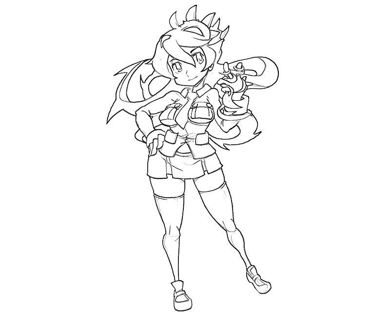 Skull girls characters coloring pages ~ Skullgirls Filia Character | Mario