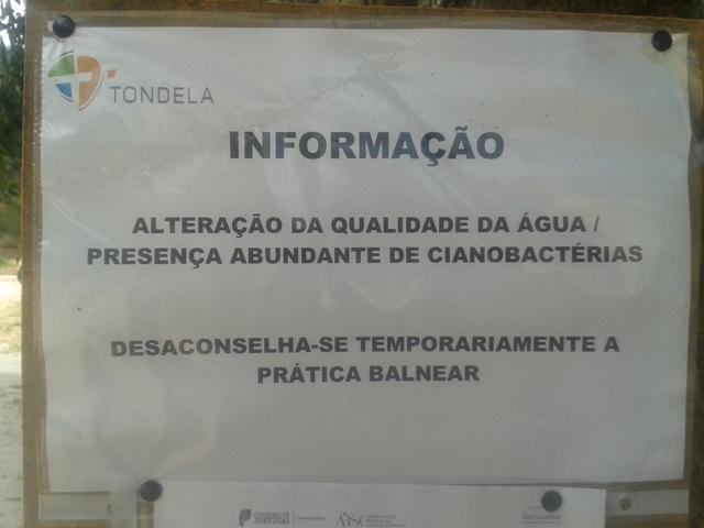 Informação Água Imprópria temporariamente
