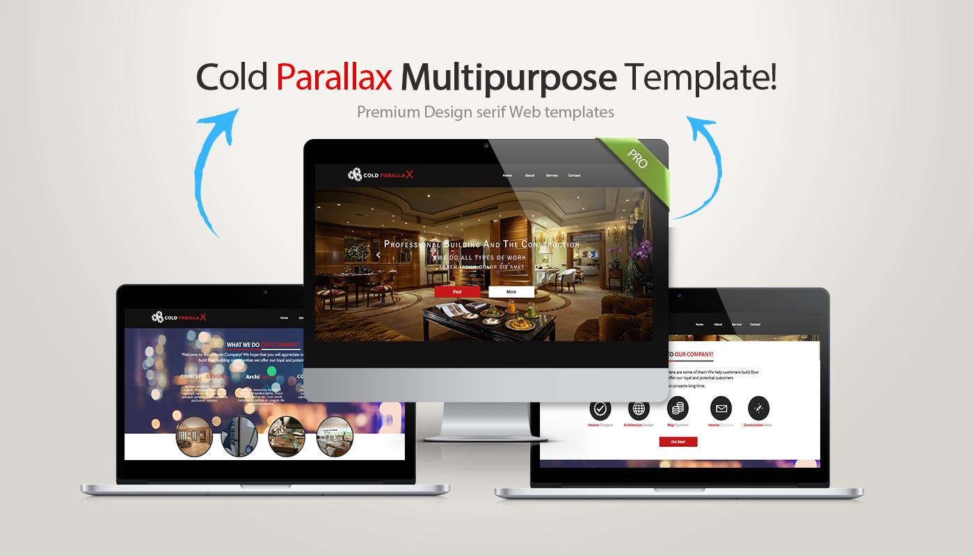 Cold Parallax Serif Webplus Template