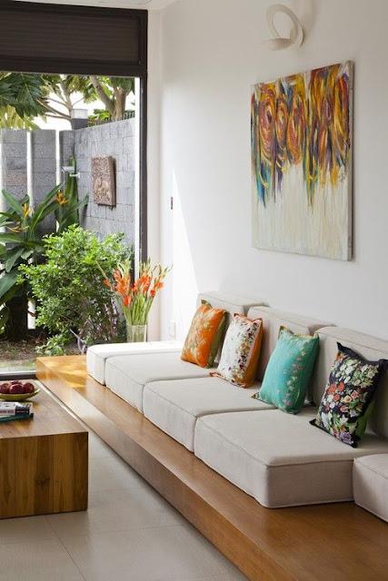 ruang tamu yang alami
