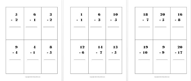 Free Subtraction flashcards