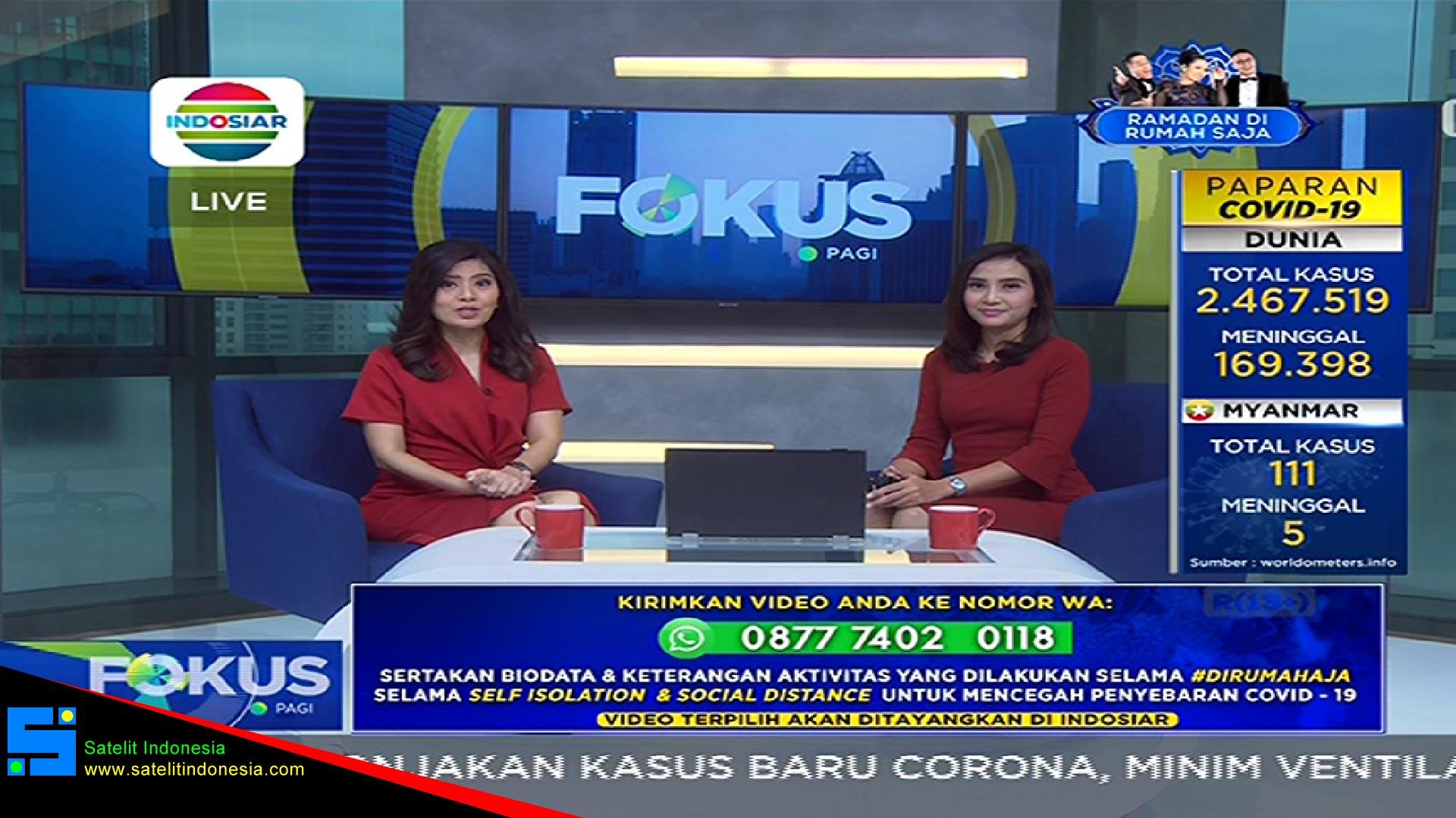Frekuensi siaran Indosiar di satelit Telkom 4 Terbaru