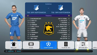 PES 2019 PS4 Option File CYPES Season 2018/2019