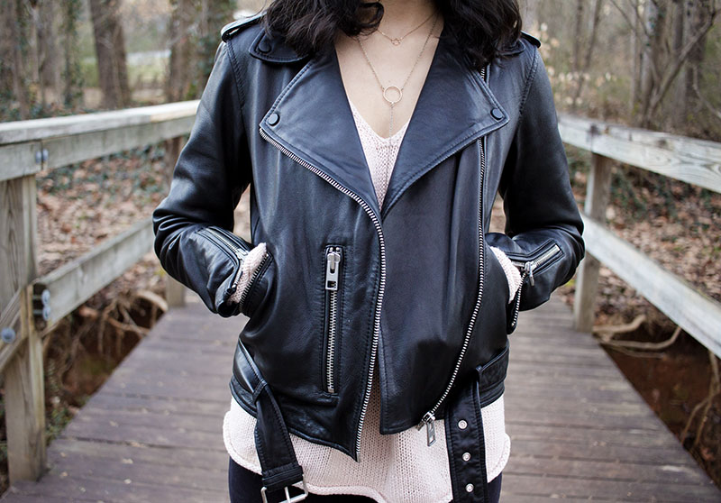 AllSaints leather jacket outfit