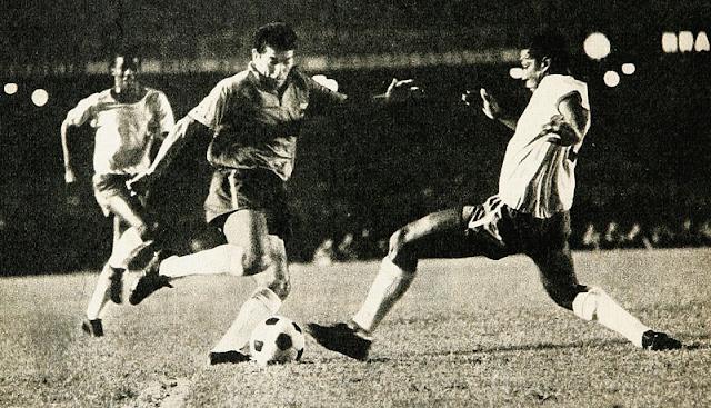 Brasil y Chile en partido amistoso, 26 de marzo de 1970