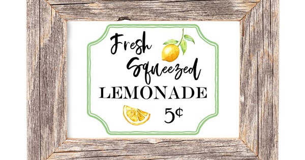 photograph regarding Lemonade Sign Printable identify Free of charge lemonade stand printable artwork and lemon decor