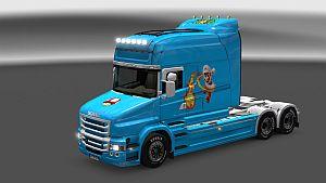 Super Mario Skin for Scania T