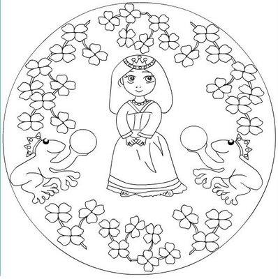 Okul öncesi Mandala Sayılı Boyama Gazetesujin
