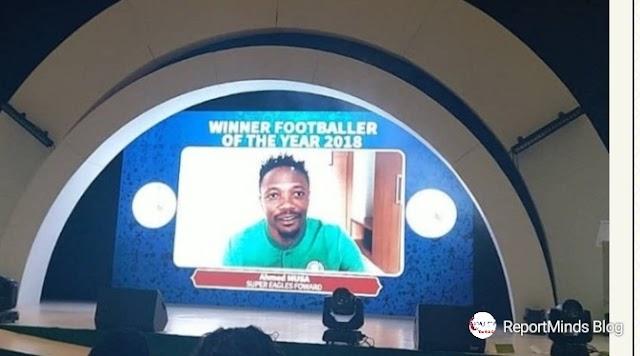 Ahmed Musa Wins Nigerian Footballer Of The Year Award