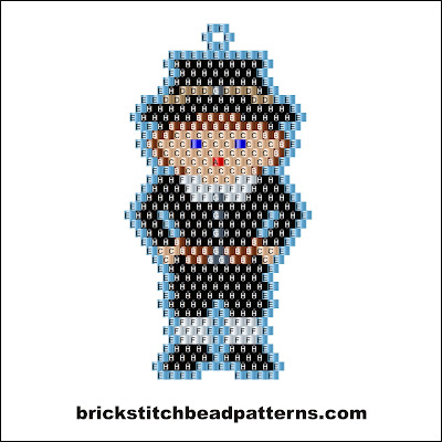 Free Thanksgiving brick stitch seed bead pattern labeled color chart