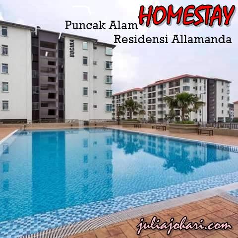 Homestay Murah Ada Swimming Pool Homestay Puncak Alam Residensi Allamanda Selangor Julia Johari