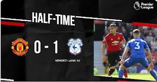 HT: Manchester United vs Cardiff City 0-1 Highlights