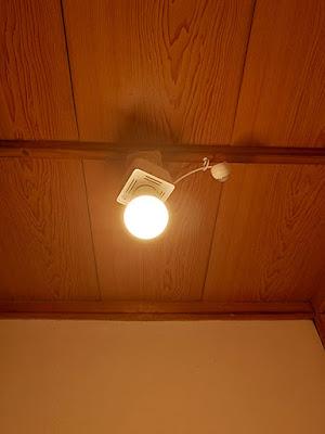 LED電球取り付け