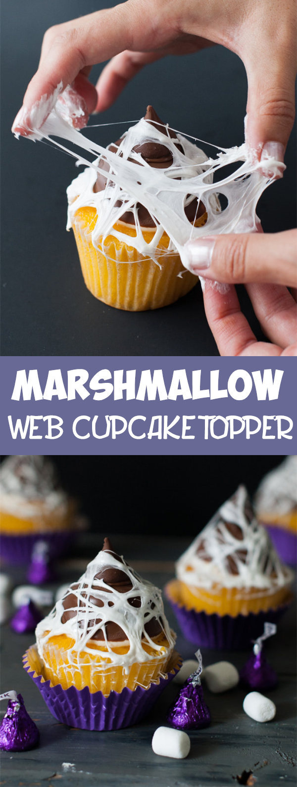 Marshmallow Web Cupcake Topper