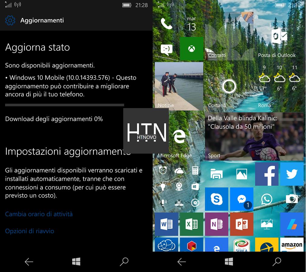 Windows 10 Mobile si aggiorna e arriva alla Build 14393.576 2