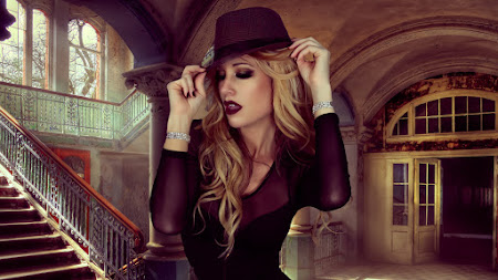 Beautiful Model Portrait with a Stylish Hat 4K
