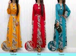 Gamis Katun Kombi Batik SOLD OUT