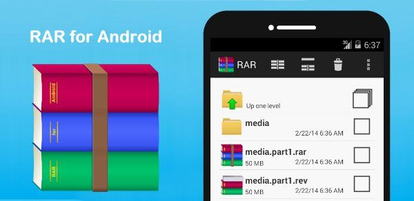 how to unpack rar on android