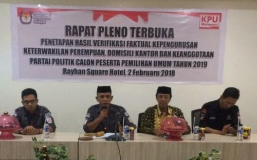 12 Parpol Calon Peserta Pemilu 2019, Lolos Verifikasi Di Selayar