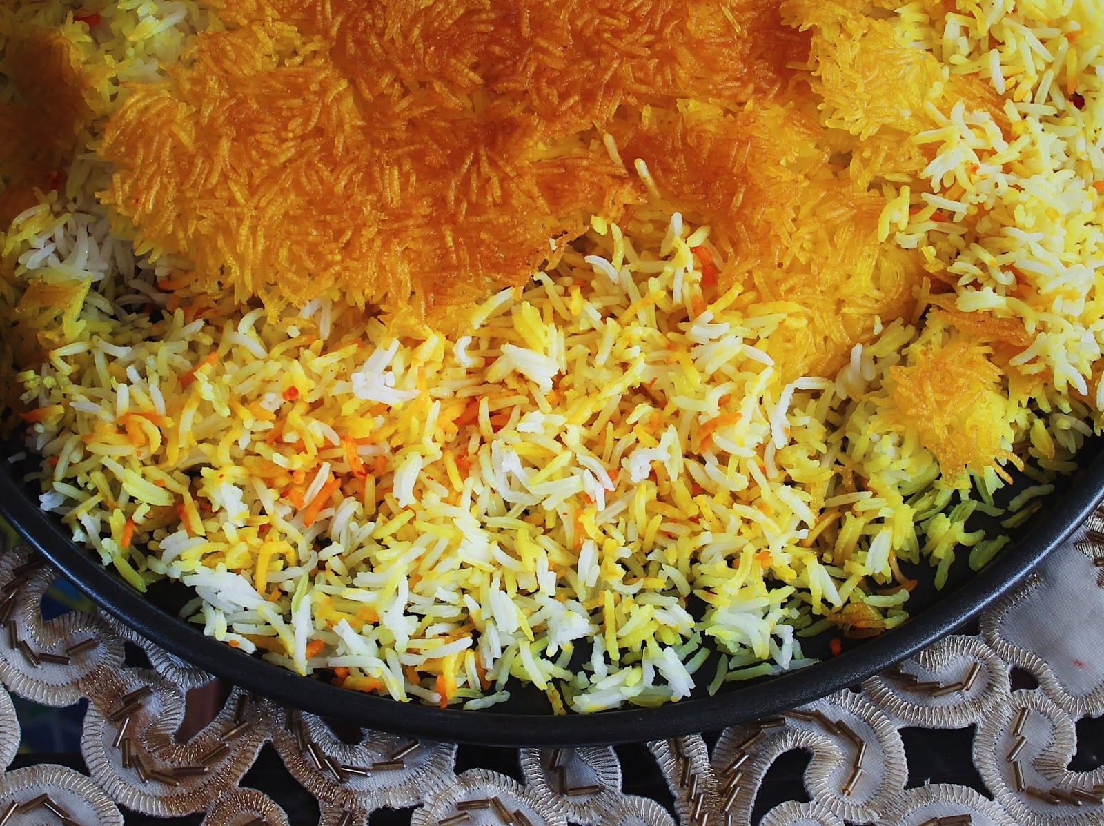 Turmeric Saffron Polow Persian Rice