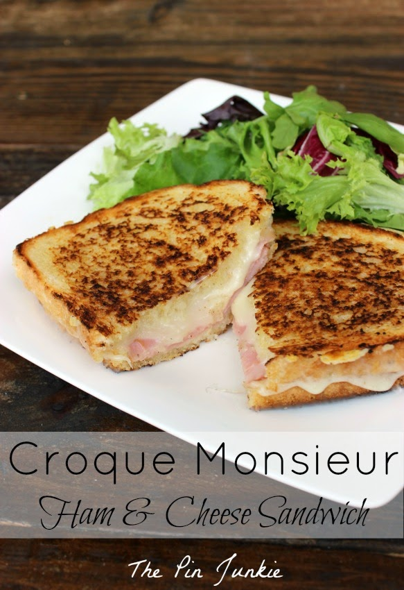 Croque Monsieur - Fried Ham and Cheese Sandwich