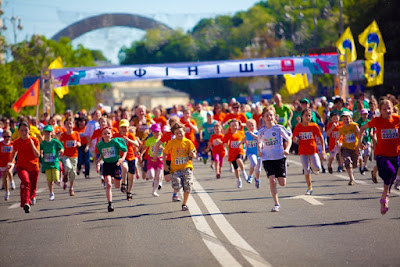 "The race ""Under the chestnuts"" dedicated to the International Children's Day took place in Kiev."
