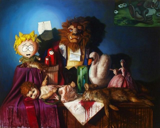 Пародии на охотничьи натюрморты. Cara De Angelis 5