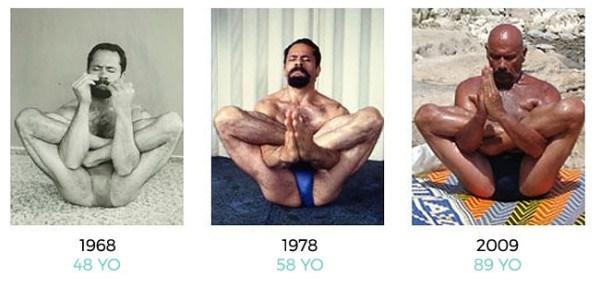yogi kazim 95 year old but looks in his 40s
