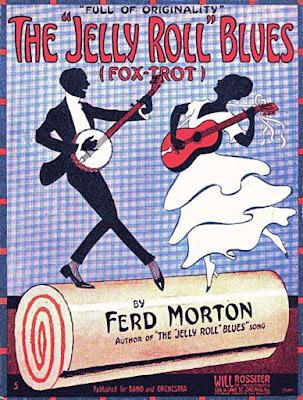Αφίσα χορού Φοξ Τροτ με τη μουσική του Τζέλι Ρολ Μόρτον / Jelly Roll Morton Blues, Fox Trot poster