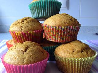 Presentación muffins naranja y almendras