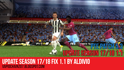 PES 2017 PTE Patch 5.3 Update Season 17-18 Fix 1.1