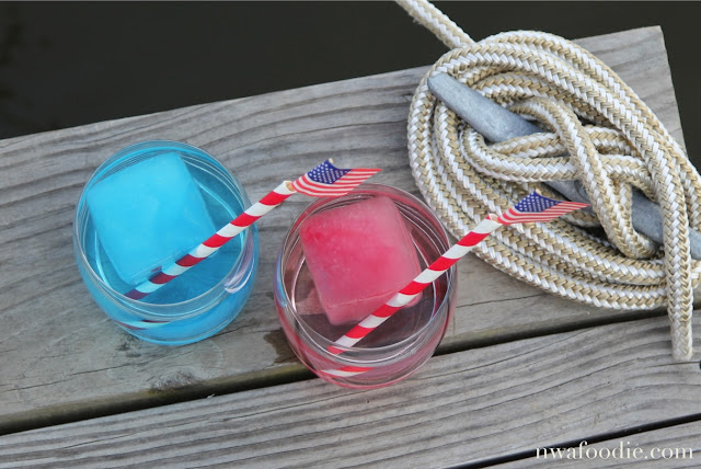 Mountain Valley Spring red white blue cocktail #AD overhead (c)nwafoodie