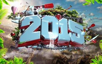 Wallpaper: Happy New Year 2015 Digital Art