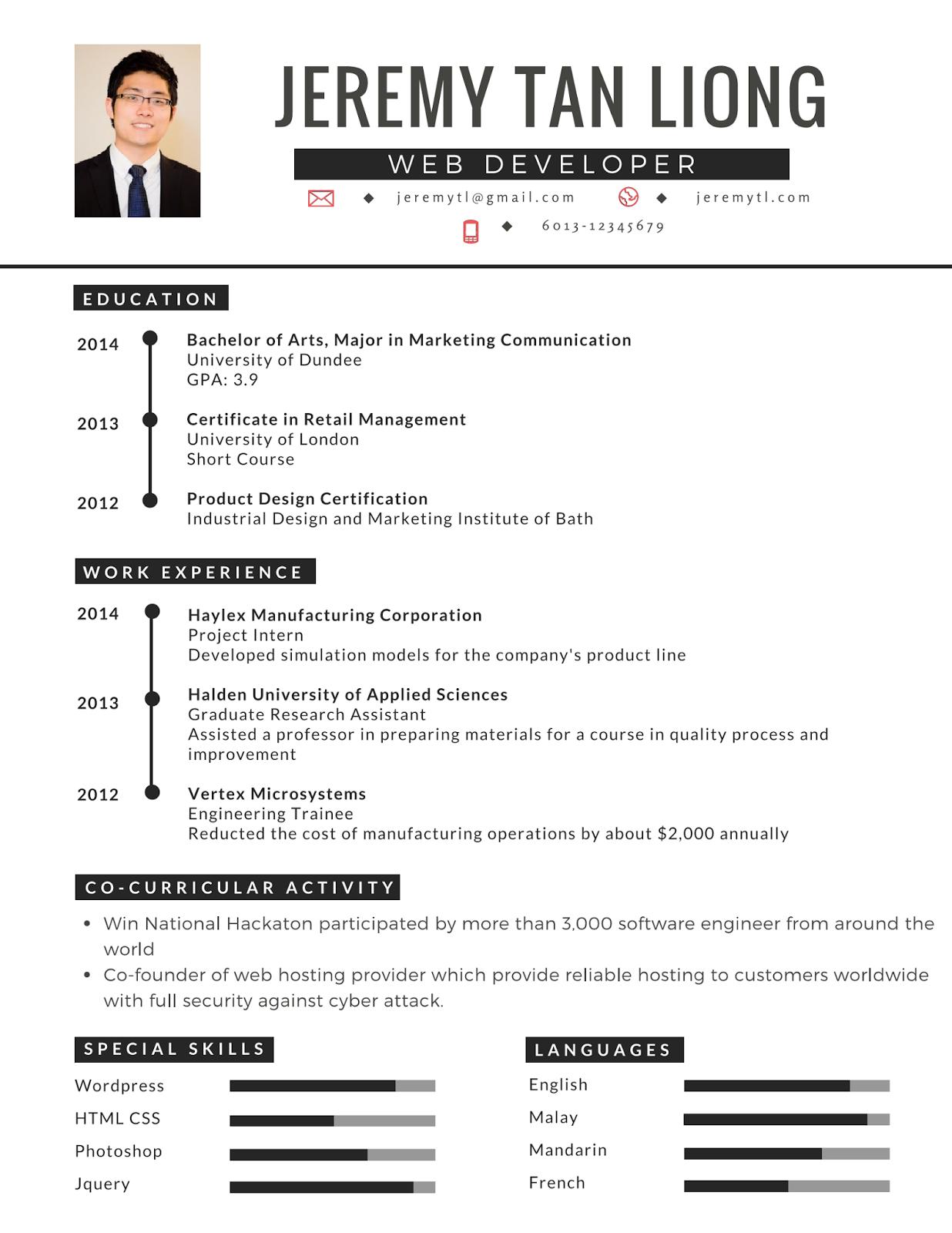 contoh resume terbaik lengkap dan terkini