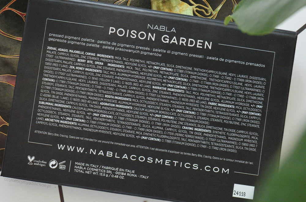 Nabla, Poison Garden - Paletka cieni
