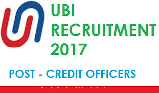Union Bank of India Recruitment 2017 - 200 Posts for Credit Officers