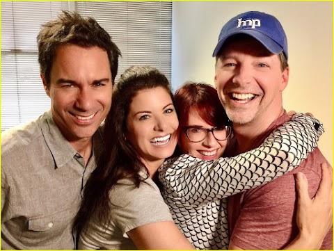reunion per il cast di will & grace: le foto