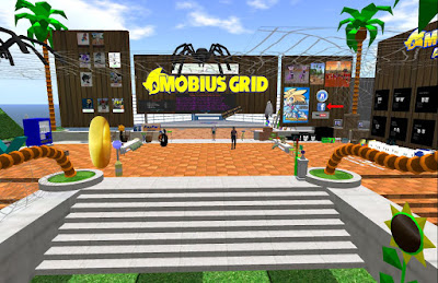 2015 NEW: GAME: Mobius Grid. A friendly group of Toons at the welcome area